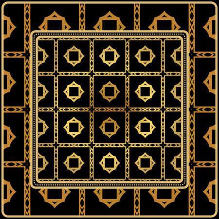 Decorative Geometric Ornament With Decorative Border. Repeating Sample Figure And Line. For Modern Interiors Design, Wallpaper, Textile Industry Standard-Bild - 119156900
