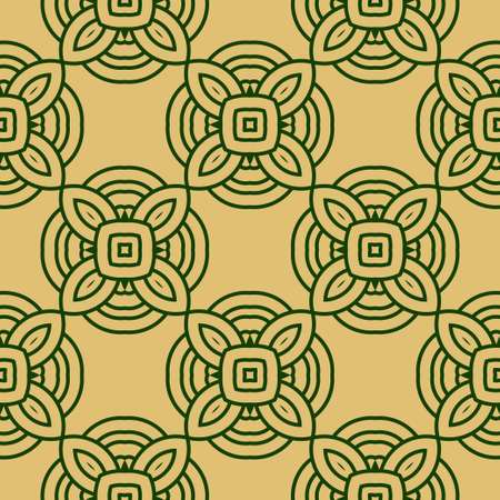 Seamless Lace Geometric Background. Texture For Wallpaper, Invitation. Vector Illustration 矢量图像