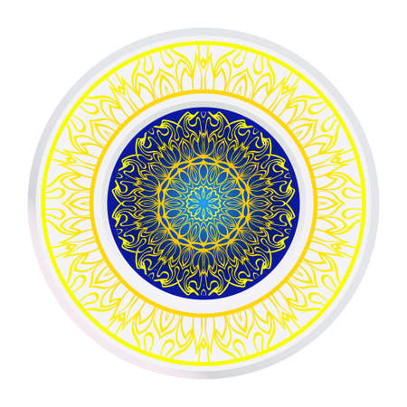 Round Floral Ornament Mandala. Vector Illustration.. For Home Decor, Interior Design, Coloring Book, Greeting Card, Invitation, Tattoo. Anti-Stress Therapy Pattern