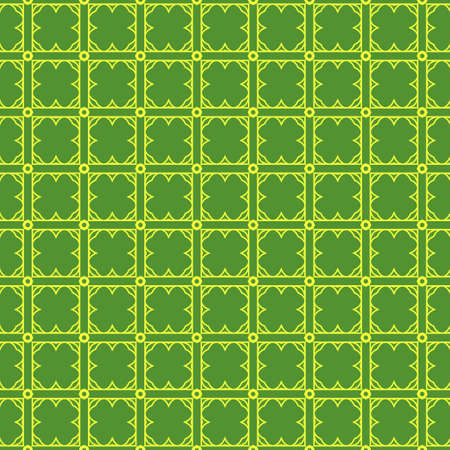 Vector Illustration. Pattern With geometric Ornament, Decorative Border. Design For Print Fabric. Paper For Scrapbook. Green yellow color.
