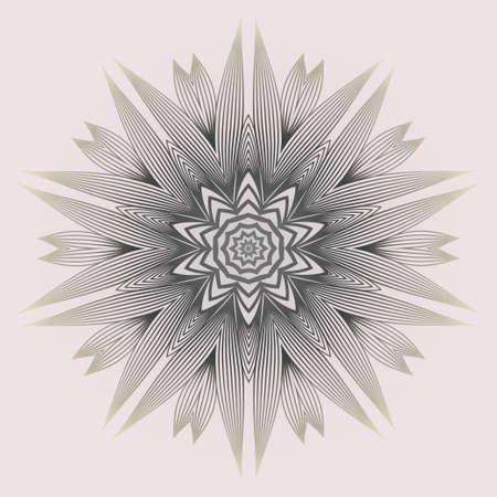 Modern Decorative Cicle Shapes. Floral Mandala. Vector Illustration. White grey color