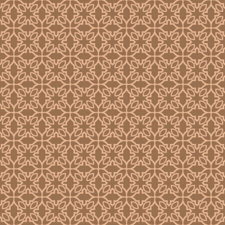 Abstract Classic Geometric Pattern Paper For Background, Print paper. Vector Illustration. Dark beige color.
