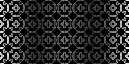 Seamless Geometrical Texture. Vector Illustration. For Design, Wallpaper, Fashion, Print. Charcoal silver color.