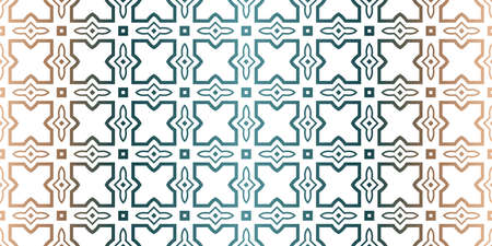 Modern Decorative Seamless Traditional Geometric Pattern. Vector Colored Illustration. Paper For Scrapbook. Brown green color.