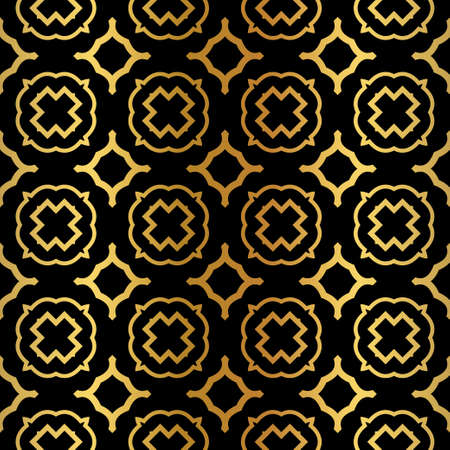Geometric Pattern. Seamless Texture Color Background. Element For Design. Vector Illustration. Luxury black gold color. Rich design. For presentation. wallpaper, page, paper.