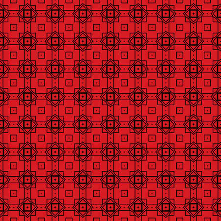 Seamless Geomteric Patterns. Vector Illustration. Hand Drawn Wrap Wallpaper, Cover Fabric, Cloth Textile Design. red black color.