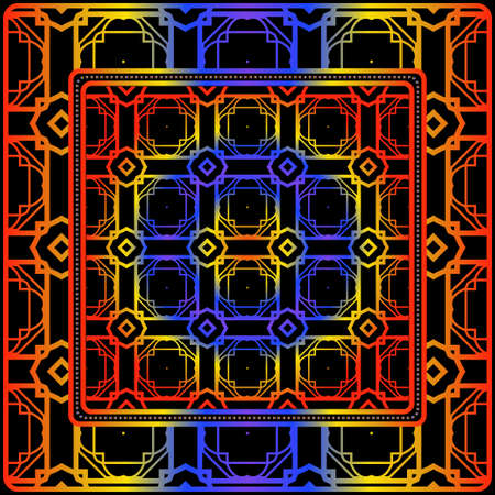 Geometric Pattern. Vector Illustration. Design For Wallpaper, Flyer, Book, Brochure Ilustracja