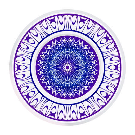 Fashion Print With Mandala Floral Ornament. Vector Illustration. Art Traditional, Islam, Arabic, Indian, Magazine, Elements With Mandala