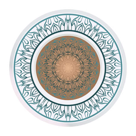 Beautiful Round Flower Mandala. Vector Illustration. For Coloring Book, Greeting Card, Invitation, Tattoo