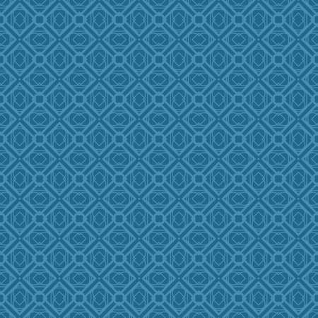 Vector Illustration. Pattern With Geometric Ornament, Decorative Border. Design For Print Fabric. Paper For Scrapbook. Blue color.