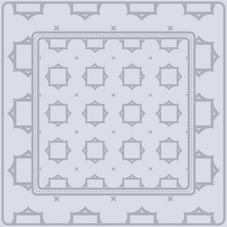 Decorative Ornament With Geometric Decoration. Symmetric Pattern . For Print Bandanna, Shawl, Tablecloth, Fabric Fashion, Scarf, Design.