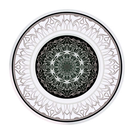 Abstract Vector Floral Pattern. Mandala Ornament. For Modern Interiors Design, Wallpaper, Textile Industry. Vectores
