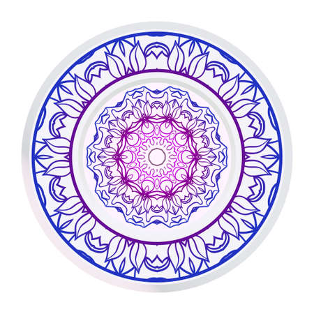 Sacred Oriental Mandala. Color Floral Ornament. Abstract Shapes In Asian Style. Vector Illustration.