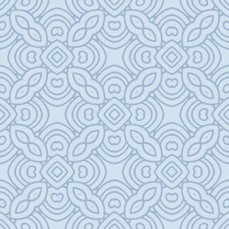 Abstract Vector Seamless Pattern With Abstract Geometric Style. Repeating Sample Figure And Line. For Fashion Interiors Design, Wallpaper, Textile Industry. 向量圖像