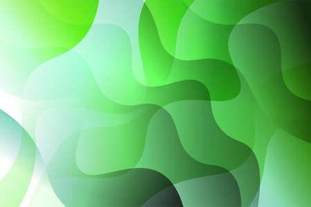 Fantasy wavy dynamic background. Creative Vector illustration. For business wallpaper, cover book, print  イラスト・ベクター素材