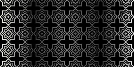 Seamless Geometrical Texture. Vector Illustration. For Design, Wallpaper, Fashion, Print. Charcoal silver color. Illustration