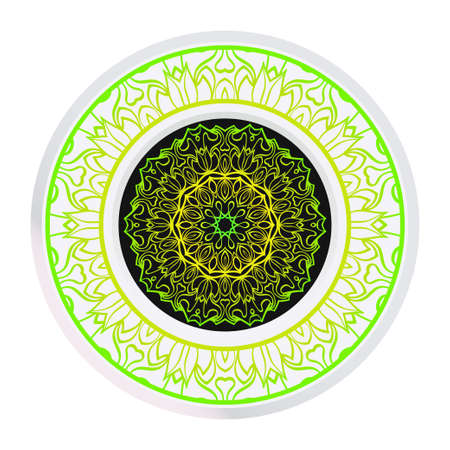 Sacred Oriental Mandala. Floral Ornament. Vector Illustration. Can Be Used For Greeting Card, Coloring Book, Phone Case Print