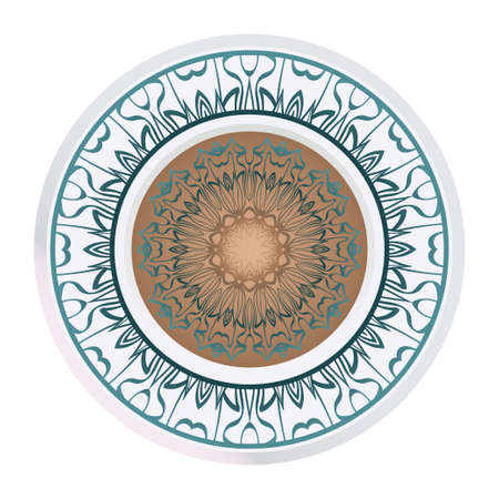 Sacred Oriental Mandala. Floral Ornament. Vector Illustration. Can Be Used For Greeting Card, Coloring Book, Phone Case Print 矢量图像