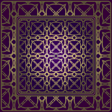 Decorative Geometric Ornament With Decorative Border. Repeating Sample Figure And Line. For Modern Interiors Design, Wallpaper, Textile Industry