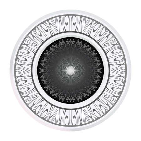Sacred Oriental Mandala. Floral Ornament. Vector Illustration. Can Be Used For Greeting Card, Coloring Book, Phone Case Print Vektoros illusztráció