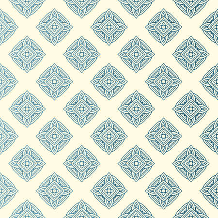Vector Seamless Pattern With Abstract Geometric Style. Repeating Sample Figure And Line. For Modern Interiors Design, Wallpaper, Textile Industry