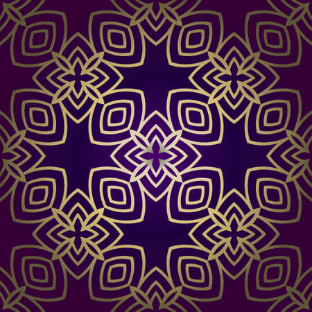 Vector Illustration. Pattern With Geometric Ornament, Decorative Border. Design For Print Fabric. Illustration