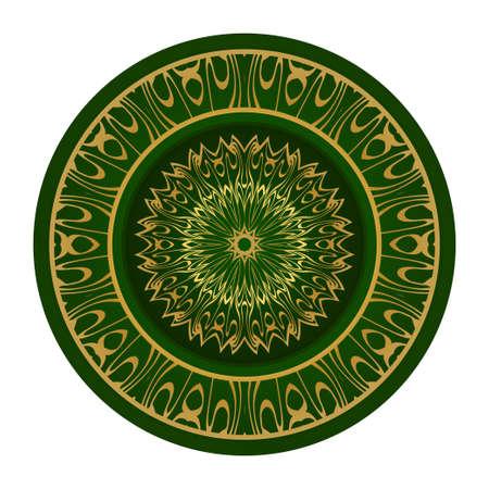 Abstract Vector Floral Pattern. Mandala Ornament. For Modern Interiors Design, Wallpaper, Textile Industry. Ilustração