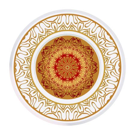 Flower Coloring Mandala. Decorative Vector Elements. Oriental Pattern. Indian, Moroccan, Mystic, Ottoman Motifs. Anti-Stress Therapy Pattern