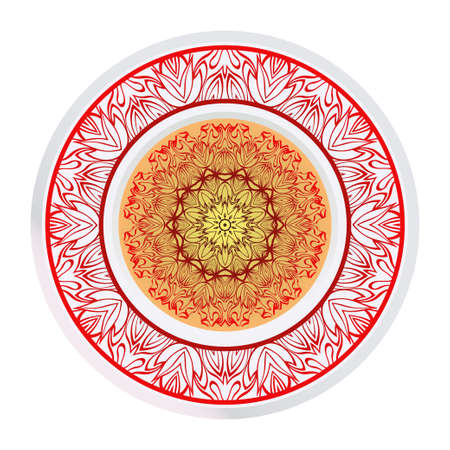 Abstract Vector Floral Pattern. Mandala Ornament. For Modern Interiors Design, Wallpaper, Textile Industry. Illustration