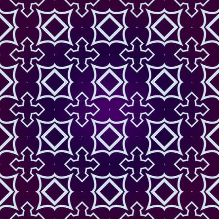 Art Deco Pattern Of Geometric Elements. Seamless Pattern. Vector Illustration. Design For Printing, Presentation, Textile Industry. Purple white color.