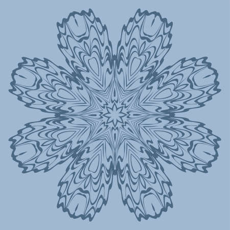 Beautiful Round Flower Mandala. Vector Illustration. For Coloring Book, Greeting Card, Invitation, Tattoo. Pastel color.