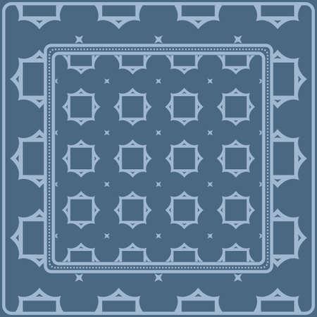 Geometric Ornament With Frame, Border. Art-Deco Background. Bandanna, Shawl, Scarf, Tablecloth Design. Ilustracja