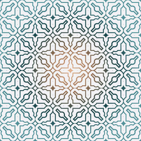 Geometric Pattern With Modern Line Design . Seamless Vector Background. For Scrapbooking Design, Printing, Wallpaper, Decor, Fabric, Invitation. Green brown gradient color.