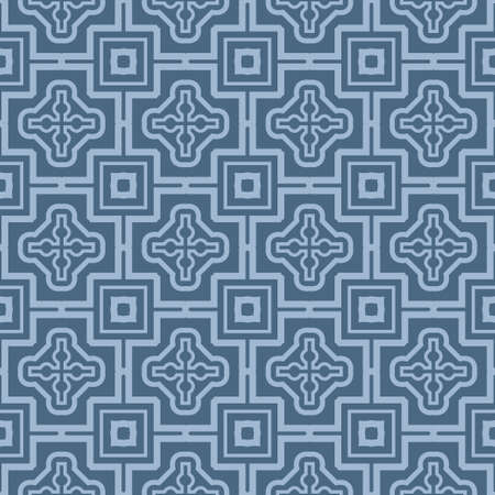 Seamless Patterns, AbstractGeometric Texture. Ornament For Interior Design, Greeting Cards, Birthday Or Wedding Invitations, Paper Print. Ethnic Background In East Style. Pastel blue color.
