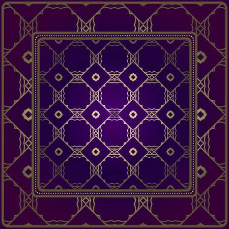 Design Print For Kerchief. The Pattern Of Geometric Ornament. Vector Illustration. The Idea For Design Prints For Neck Scarves, Carpets, Bandanas.