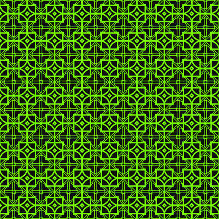 Seamless Modern Pattern. Art-Deco Geometric Background. Graphic Design. Vector Illustration. Green black color.