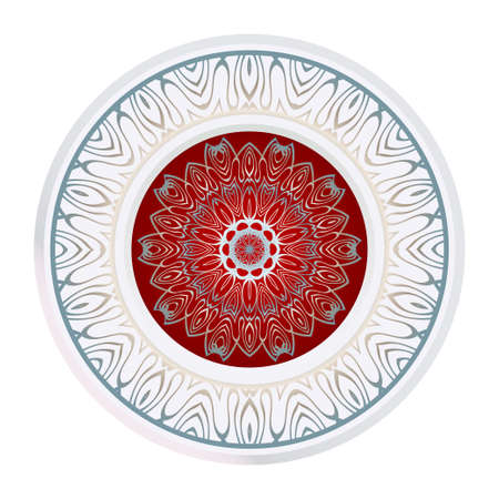 Floral Mandala. Vector Illustration. For Coloring Book, Greeting Card, Invitation, Tattoo. Anti-Stress Therapy Pattern.