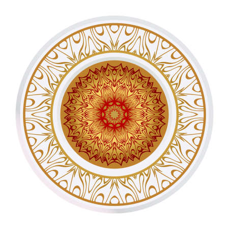 Beautiful Round Flower Mandala. Vector Illustration. For Coloring Book, Greeting Card, Invitation, Tattoo