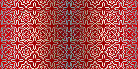 Vector Seamless Pattern With Abstract Geometric Style. Repeating Sample Figure And Line. Paper For Scrapbook. Silver red color. Illustration