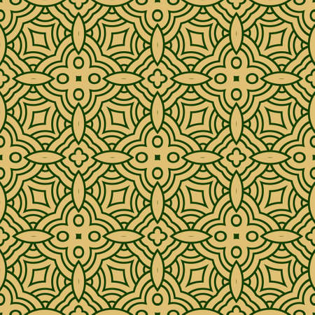 Decorative Geometric Ornament. Seamless Pattern. Vector Illustration. Tribal Ethnic Arabic, Indian, Motif. For Interior Design, Wallpaper
