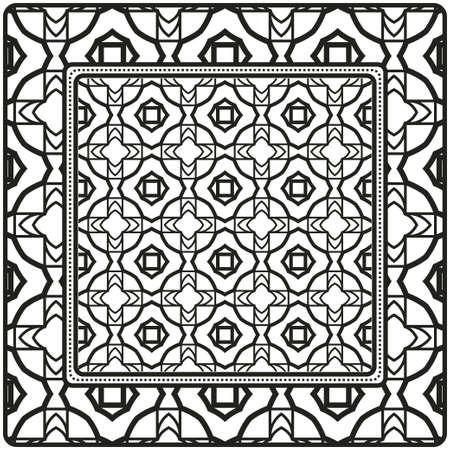 Diseño De Una Bufanda Con Un Patrón Geométrico. Para estampado de bufanda, tela, fundas, scrapbooking, bandana, pareo, chal. Ilustración vectorial