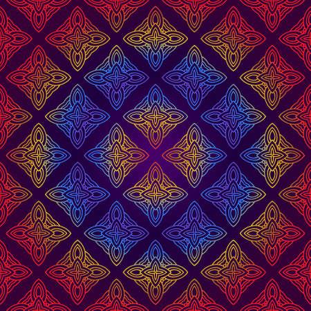 Decorative Geometric Ornament. Seamless Pattern. Vector Illustration. Tribal Ethnic Arabic, Indian, Motif. For Interior Design, Wallpaper
