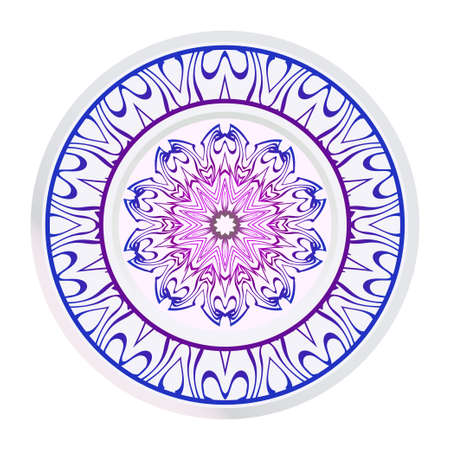 Abstract Vector Floral Pattern. Mandala Ornament. For Modern Interiors Design, Wallpaper, Textile Industry.  イラスト・ベクター素材