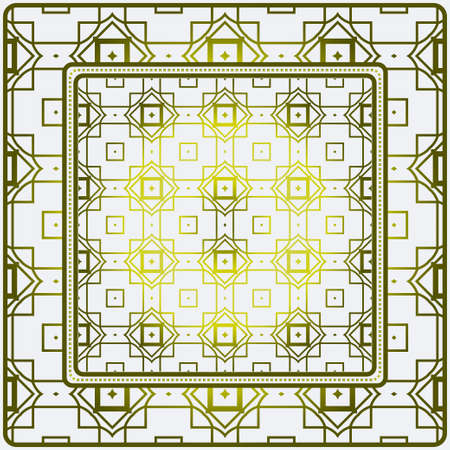Design Print. The Pattern Of Geometric Ornament. Vector Illustration. The Idea For Design Prints For Neck Scarves, Carpets, Bandanas.