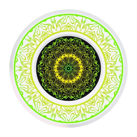 Mandala Ornament. Vector Illustration. For Wedding, Bridal, Valentines Day, Greeting Card Invitation. Oriental Pattern. Indian, Moroccan, Mystic, Ottoman Motifs. Anti-Stress Therapy Pattern