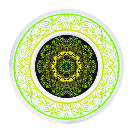 Abstract Vector Floral Pattern. Mandala Ornament. For Modern Interiors Design, Wallpaper, Textile Industry. Çizim