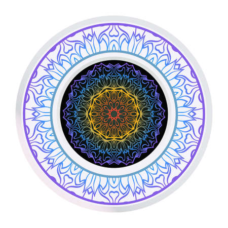 Luxury Art Deco Floral Pattern. Mandala Design. Vector Illustration. Oriental Pattern. Indian, Moroccan, Mystic, Ottoman Motifs. Anti-Stress Therapy Pattern