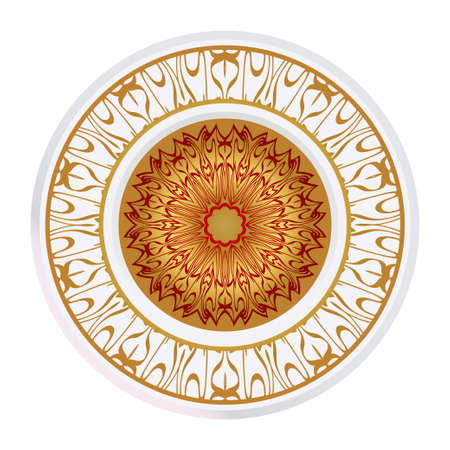 Sacred Oriental Mandala. Floral Ornament. Vector Illustration. Can Be Used For Greeting Card, Coloring Book, Phone Case Print Çizim