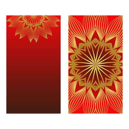 Sunrise Colorful Design With Floral Mandala Background. Vector Design. Ottoman, Arabic, Oriental, Turkish, Indian,Motif. Template For Flyer Or Invitation Card Design Çizim