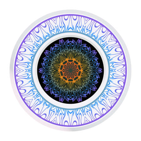 Decorative Mandala. Vector Illustration. Isolated. Tribal Ethnic Ornament With Mandala. Anti-Stress Therapy Pattern. Indian, Moroccan, Mystic, Ottoman Motifs Çizim